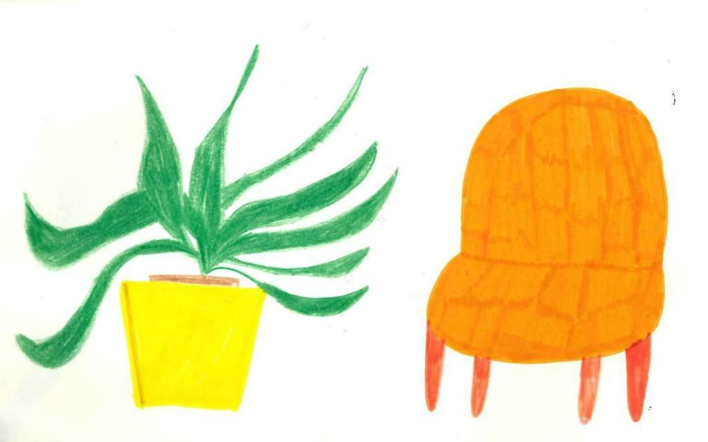 orange chair 1